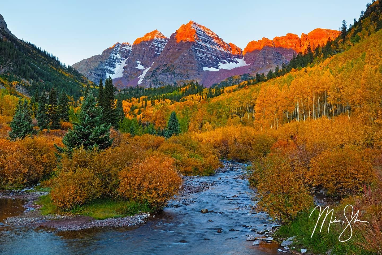 Maroon Bells Autumn Alpineglow