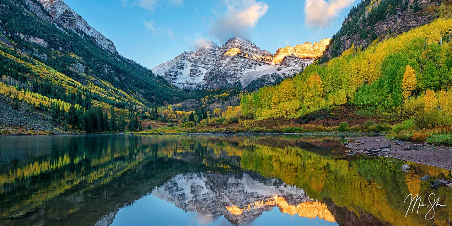 Maroon Bells Photography: Sunrise at the Maroon Bells