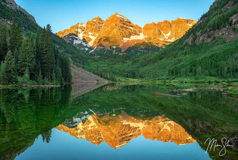 Maroon Bells Under Bluebird Skies - Maroon Bells, Aspen, Colorado