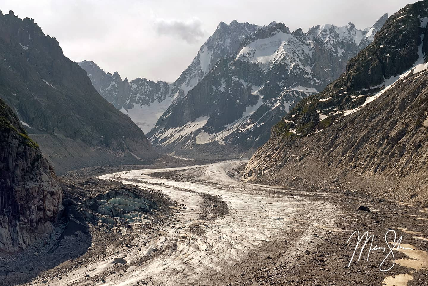 Open edition fine art print of Mer de Glace from Mickey Shannon Photography. Location: Mer de Glace, France