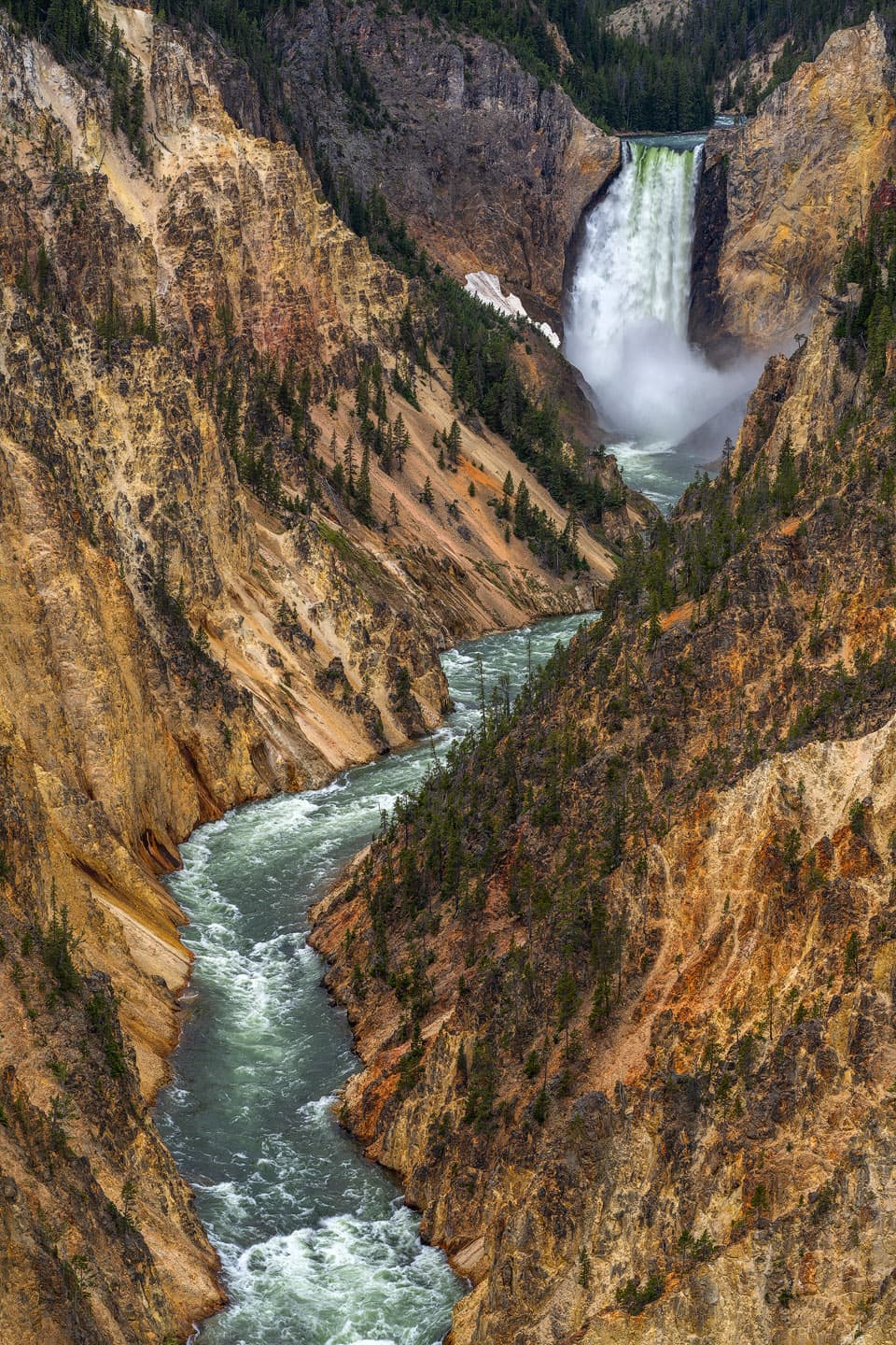 Mighty Falls of the Yellowstone - Lower Falls of the Yellowstone, Yellowstone National Park, Wyoming