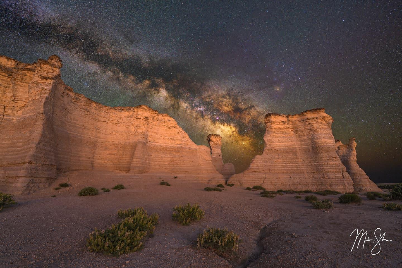 Milky Way Magic - Monument Rocks, Kansas