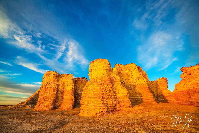 Monument Rocks Sunlight - Monument Rocks, Kansas