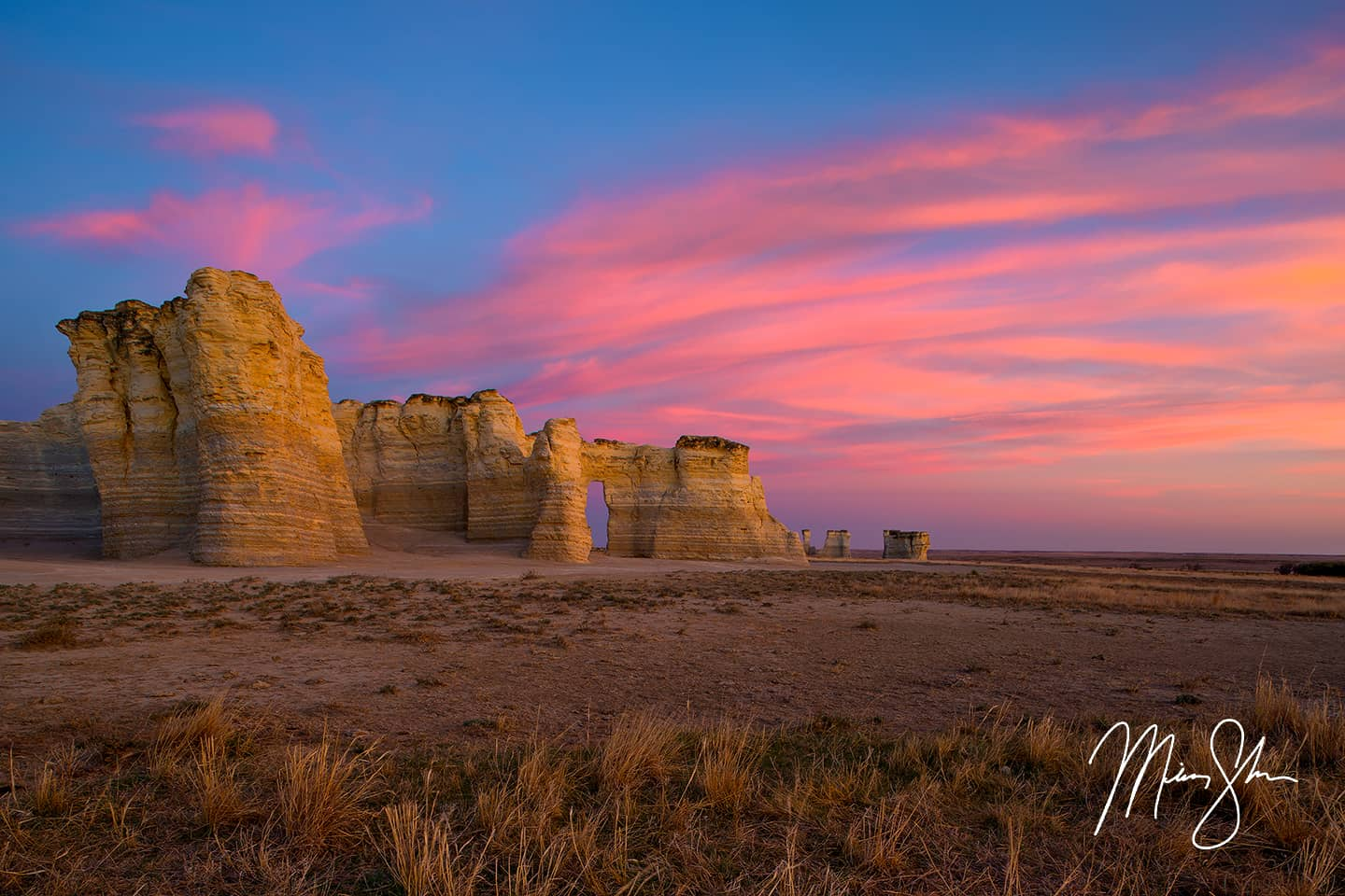 Monument Rocks Sunset