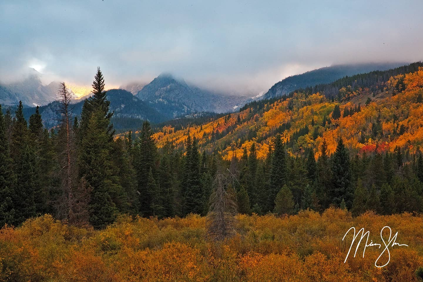 Moody Autumn Sunrise at Storm Pass Trailhead