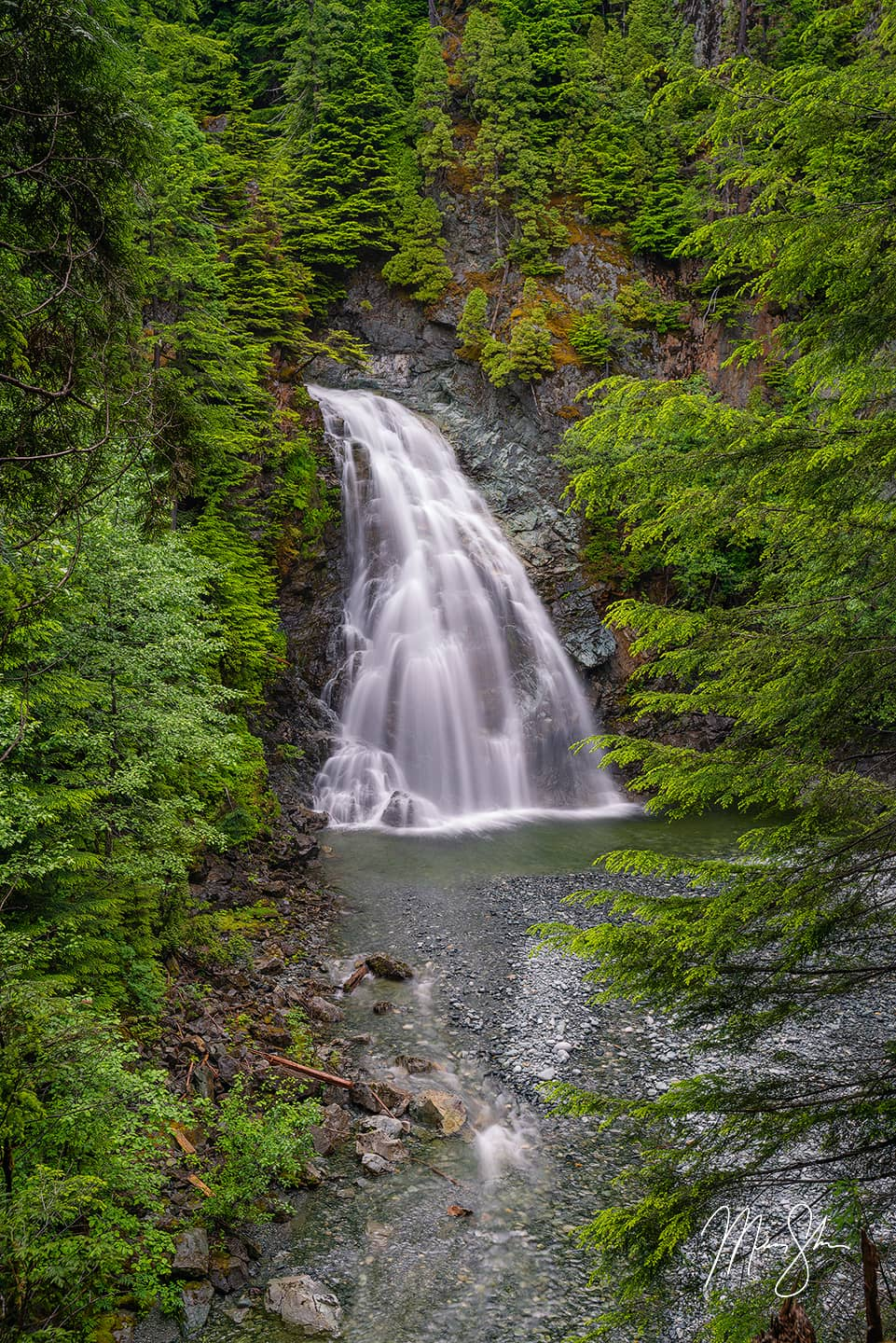 Open edition fine art print of Moore Creek Falls from Mickey Shannon Photography. Location: Kitimat, British Columbia, Canada