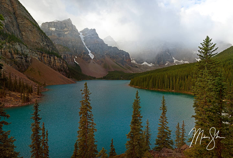 Moraine Lake Clouds - Moraine Lake, Banff National Park, Alberta, Canada