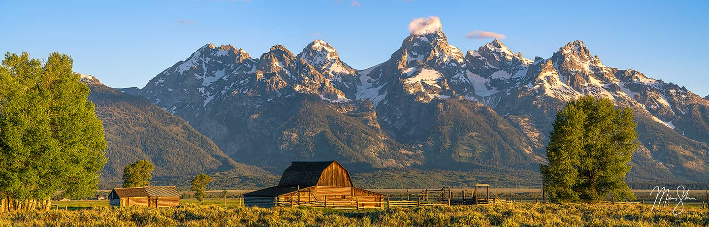 Mormon Row Sunrise - Mormon Row, Grand Teton National Park, Jackson, Wyoming