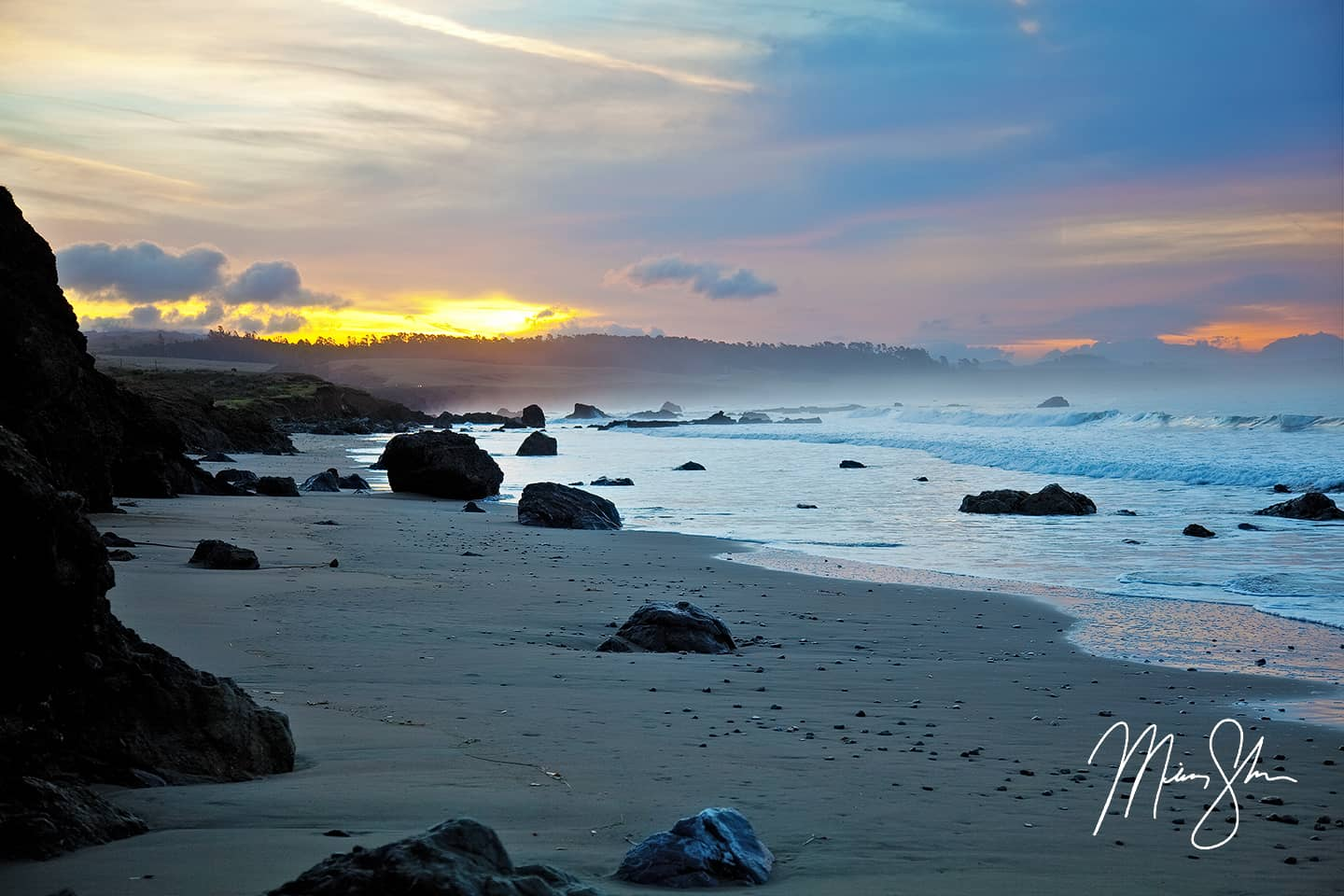 Open edition fine art print of Morning At San Simeon Bay from Mickey Shannon Photography. Location: San Simeon, California