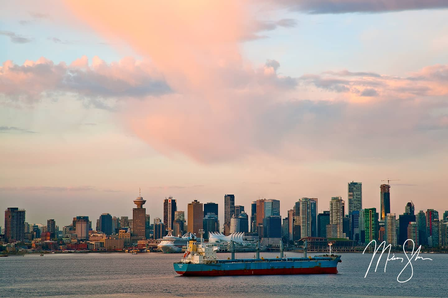 Open edition fine art print of Morning in Vancouver from Mickey Shannon Photography. Location: North Vancouver, British Columbia, Canada