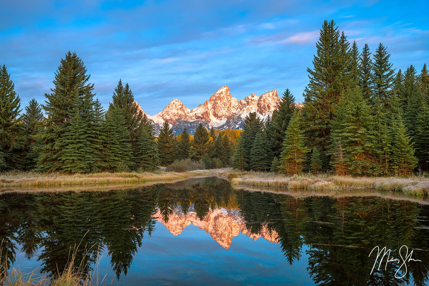 Schwabacher Landing Sunrise - Schwabacher Landing, Grand Teton National Park, Wyoming