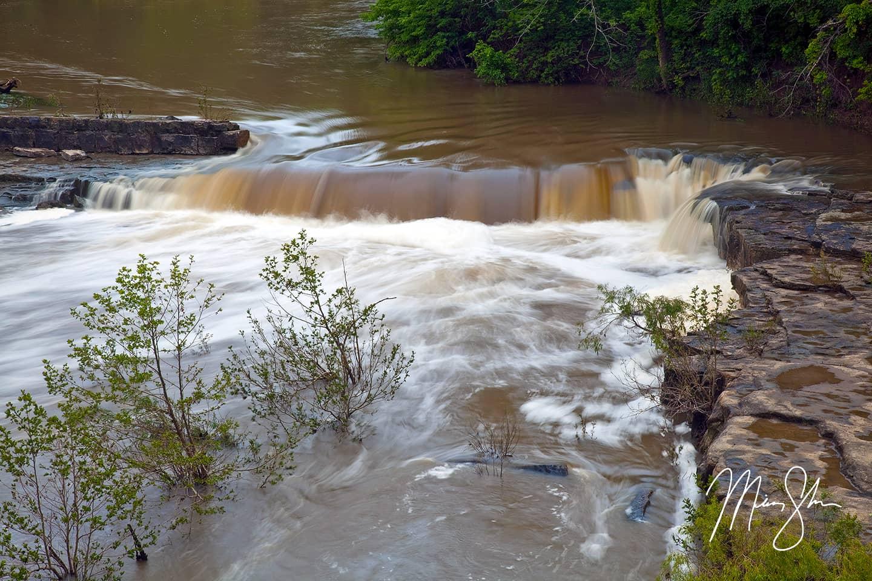 Muddy Elk Falls - Elk Falls, Kansas