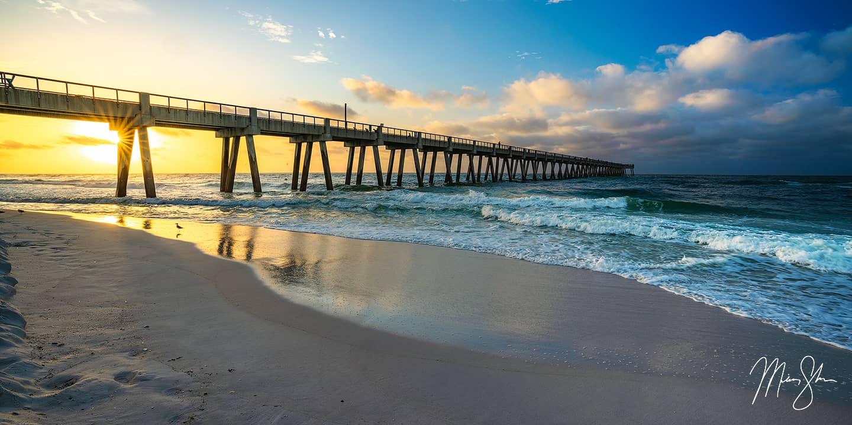 Navarre Beach Pier Sunrise - Navarre Beach, Destin, Florida