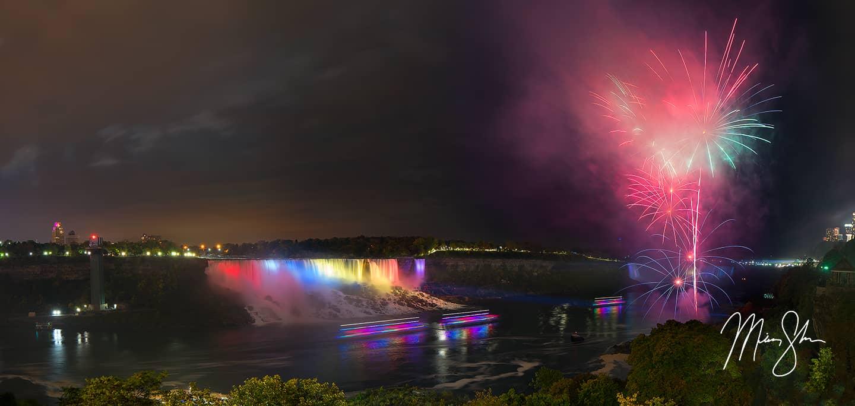 Niagara Falls Fireworks - Niagara Falls, Ontario, Canada