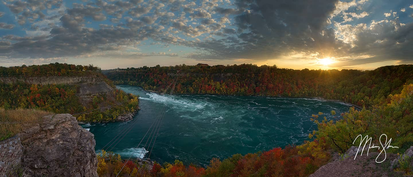 Open edition fine art print of Niagara Whirlpool Sunset from Mickey Shannon Photography. Location: Niagara Falls, Ontario, Canada