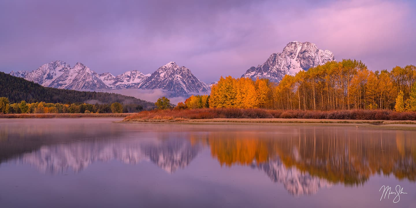 Oxbow Bend Crisp Autumn Sunrise