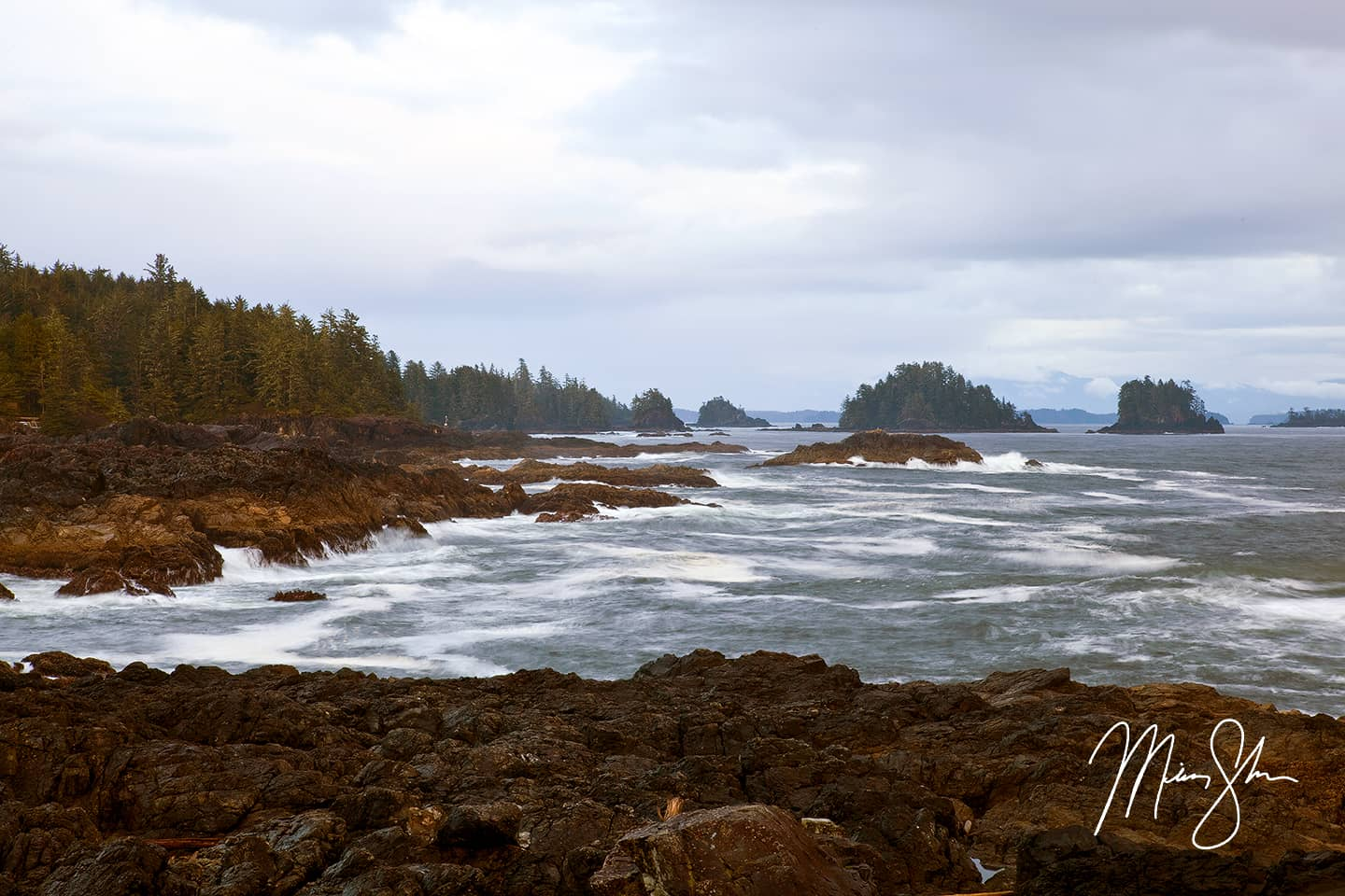 Open edition fine art print of Pacific Rim Coastline from Mickey Shannon Photography. Location: Ucluelet Lighthouse, Ucluelet, Vancouver Island, British Columbia, Canada