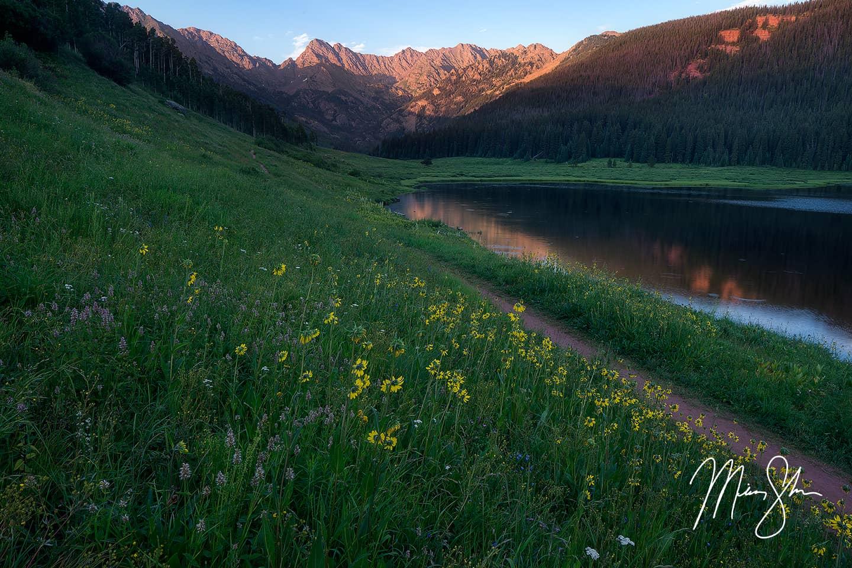 Piney Lake Summer Sunset - Piney Lake Ranch, Colorado