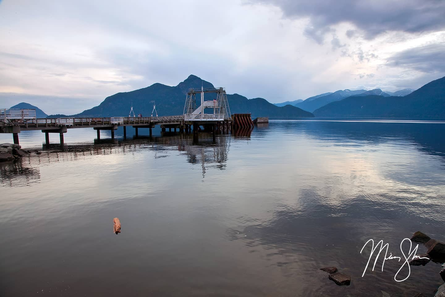 Porteau Cove Sunset - Porteau Cove, Sea to Sky Highway, British Columbia, Canada