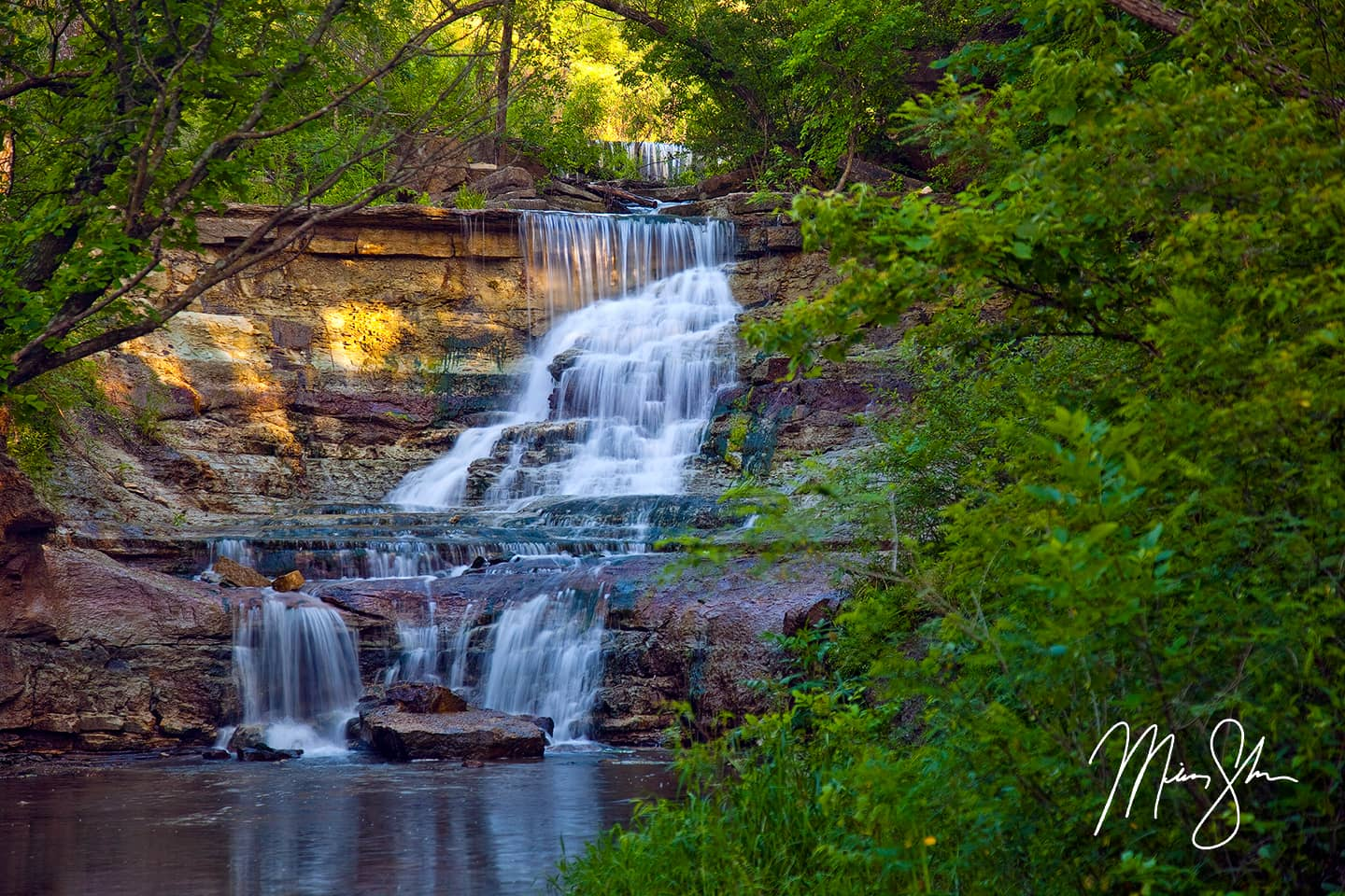 Prather creek falls chase state fishing lake kansas for Good places to go fishing near me