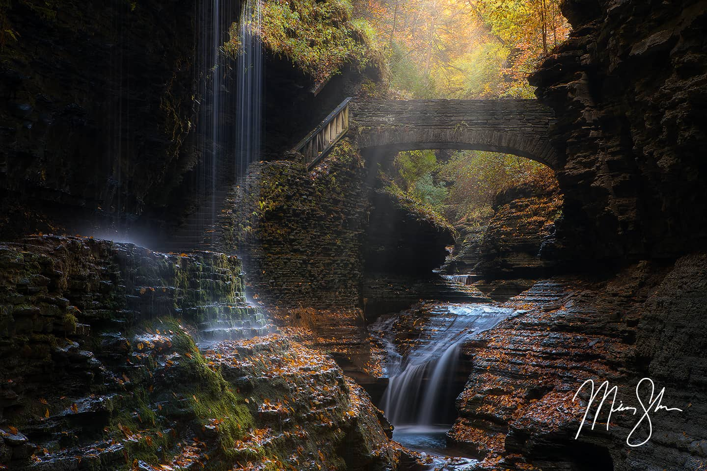 Rainbow Falls of Watkins Glen