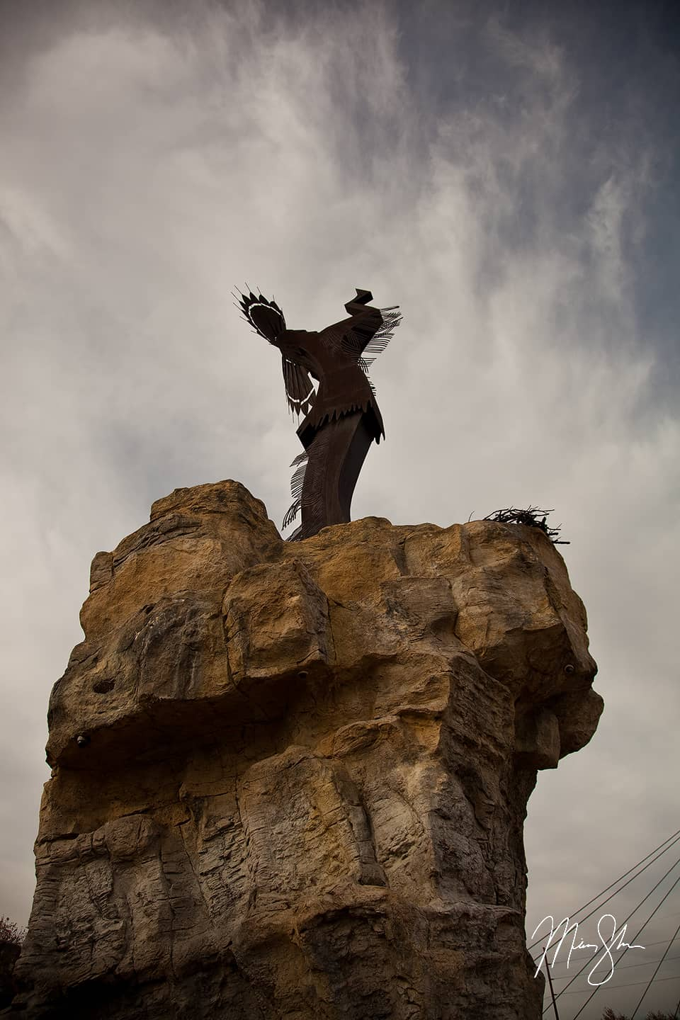 Open edition fine art print of Reaching Upward Keeper of the Plains from Mickey Shannon Photography. Location: Wichita, Kansas