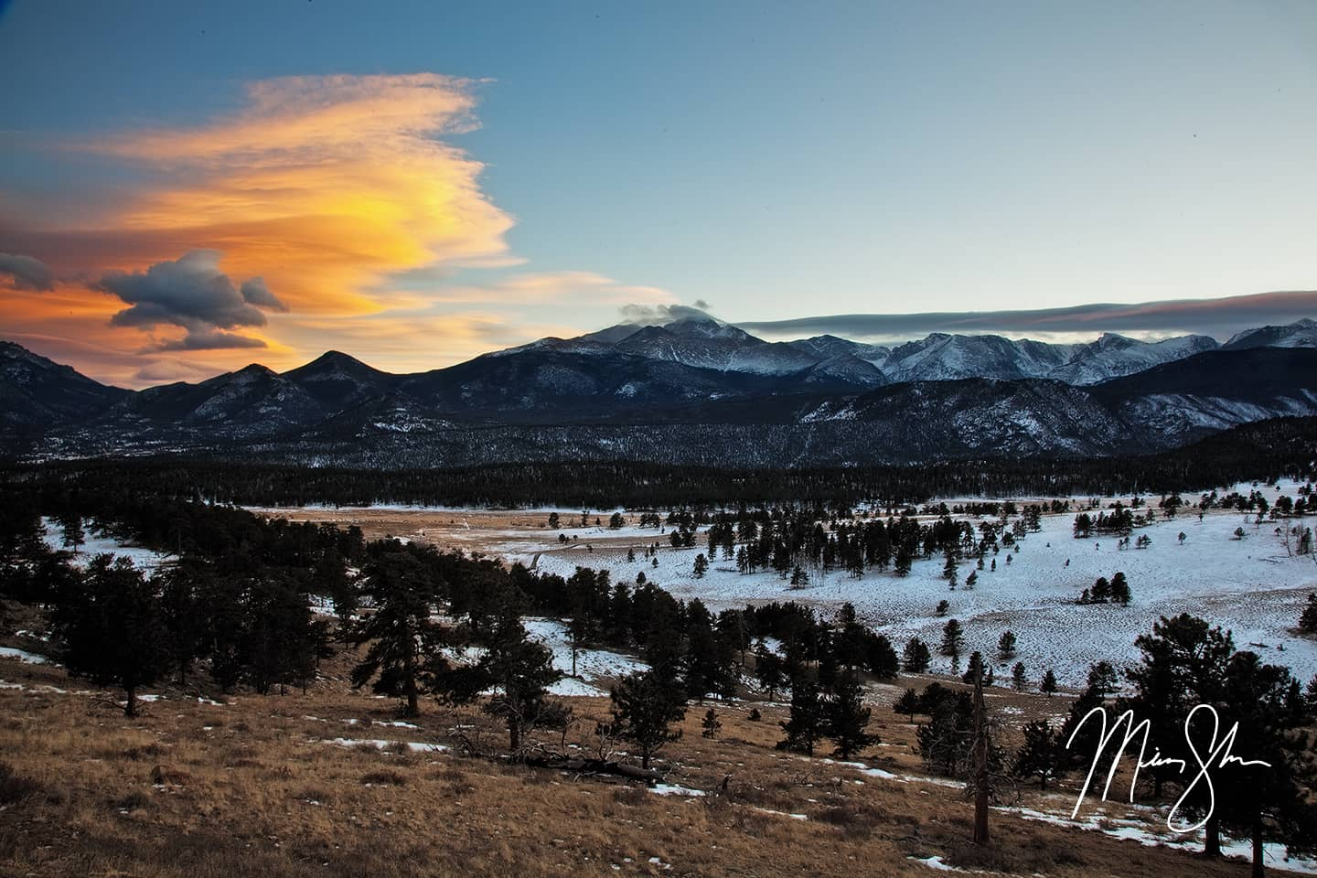 Rocky Mountain National Park Sunset