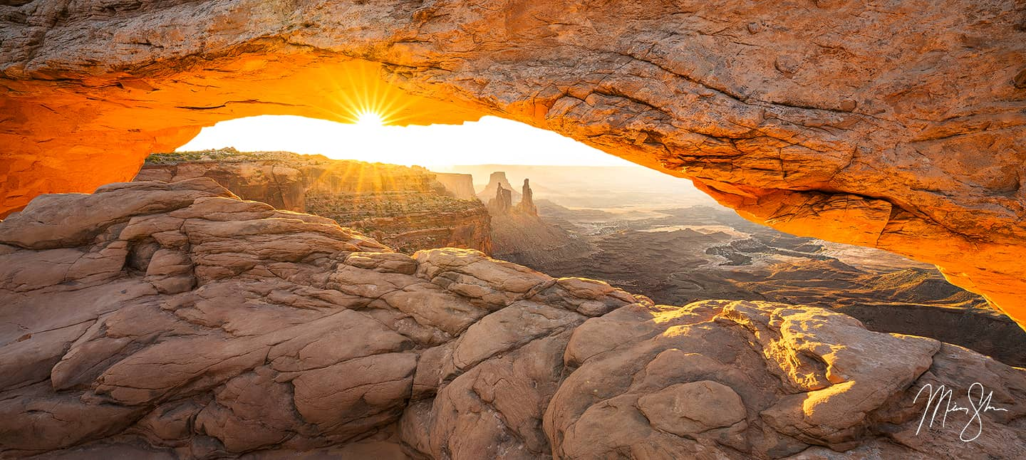 Sacred Mesa Arch Sunrise - Mesa Arch, Canyonlands National Park, Utah
