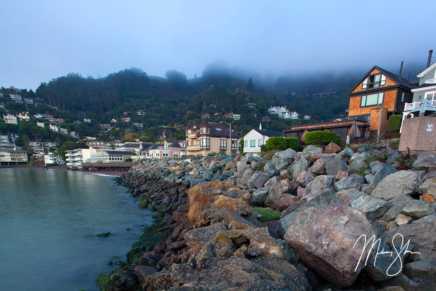 Open edition fine art print of Sausalito Morning from Mickey Shannon Photography. Location: Sausalito, California