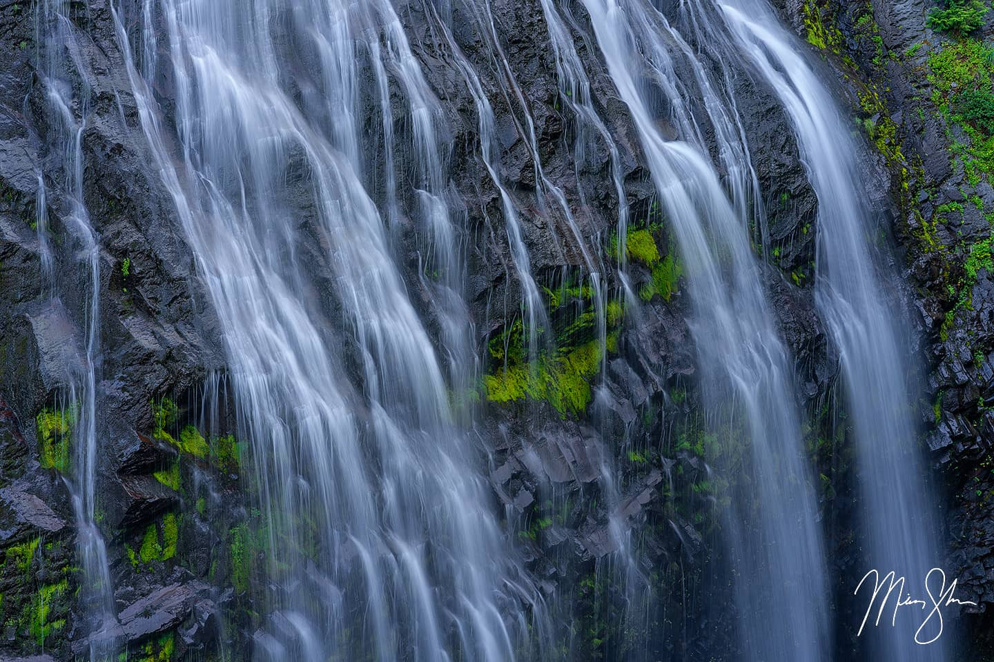 Limited edition luxury fine art print of Silk from Mickey Shannon Photography. Location: Narada Falls, Mount Rainier National Park, Washington