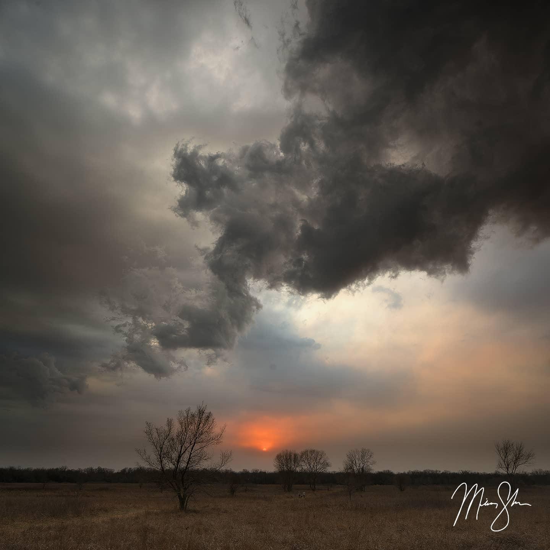 Smoke and Storms in Kansas - Wichita, Kansas