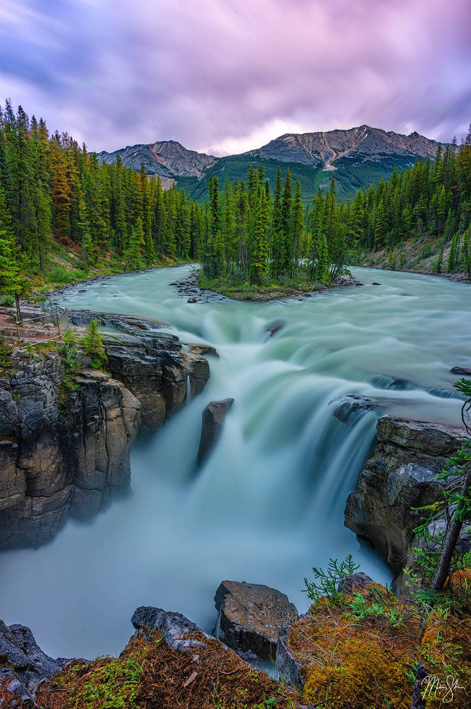 Limited Edition Luxury Fine Art Prints of the Sunwapta Falls in Jasper National Park, Canada