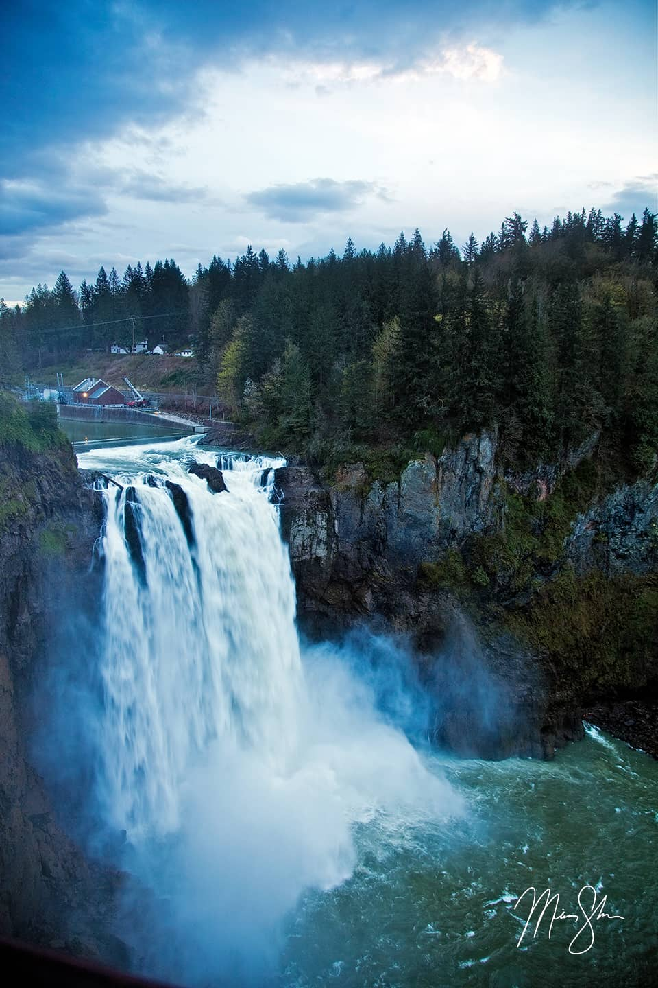 Open edition fine art print of Snoqualmie Falls from Mickey Shannon Photography. Location: Snoqualmie Falls, Washington
