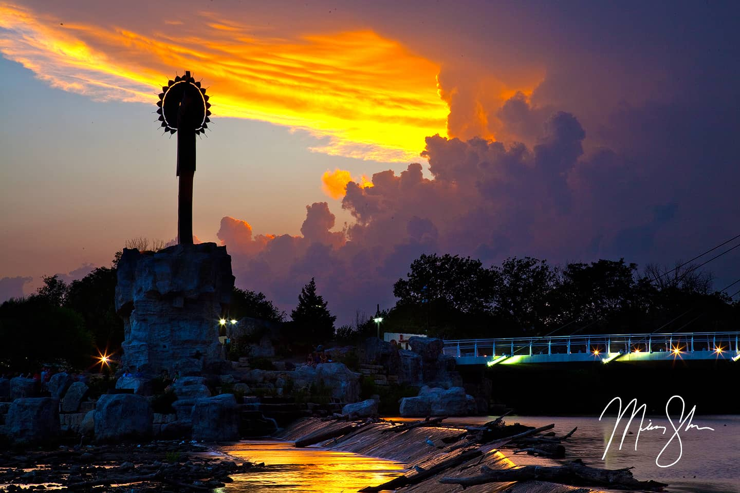 Open edition fine art print of Stormy Wichita Sunset from Mickey Shannon Photography. Location: Wichita, Kansas