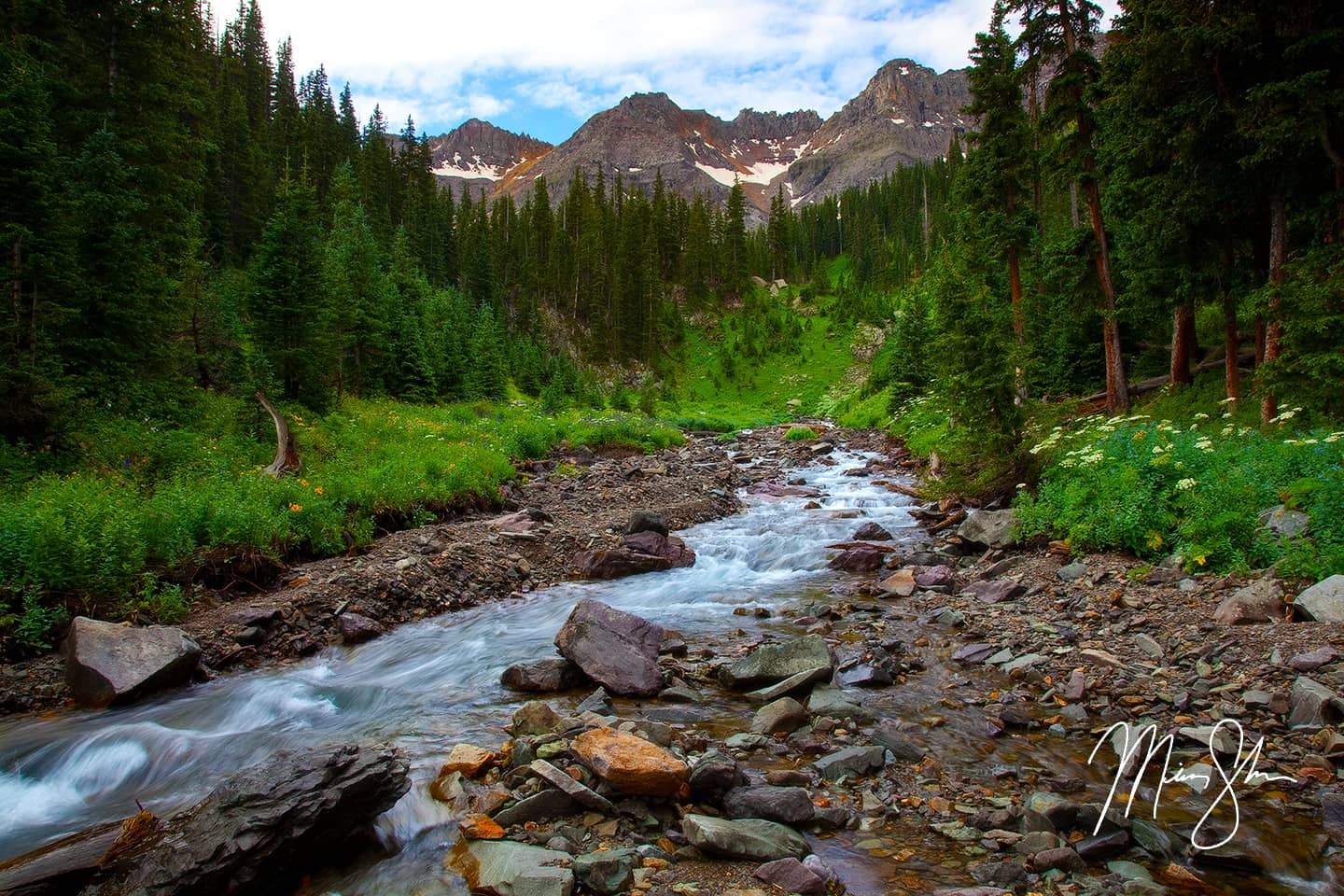 Open edition fine art print of Summer In The San Juans from Mickey Shannon Photography. Location: Sneffels Wilderness, Ridgway, Colorado