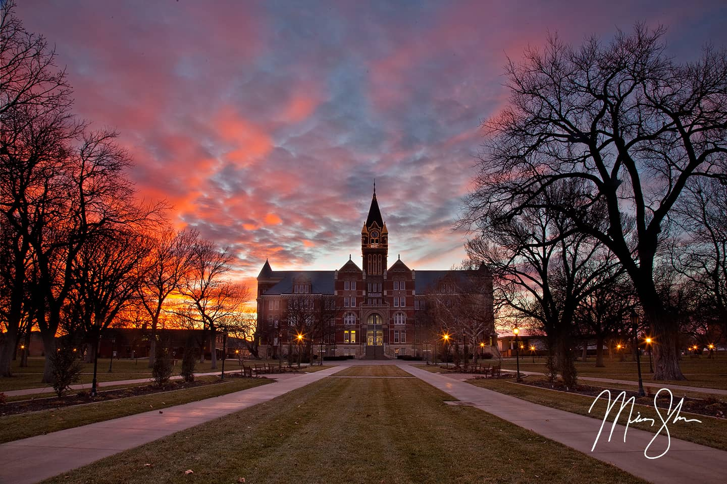 Sunset at Friends University - Friends, University, Wichita, Kansas
