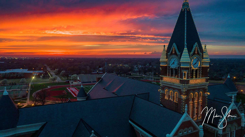 Sunset Clocktower - Friends University, Wichita, Kansas