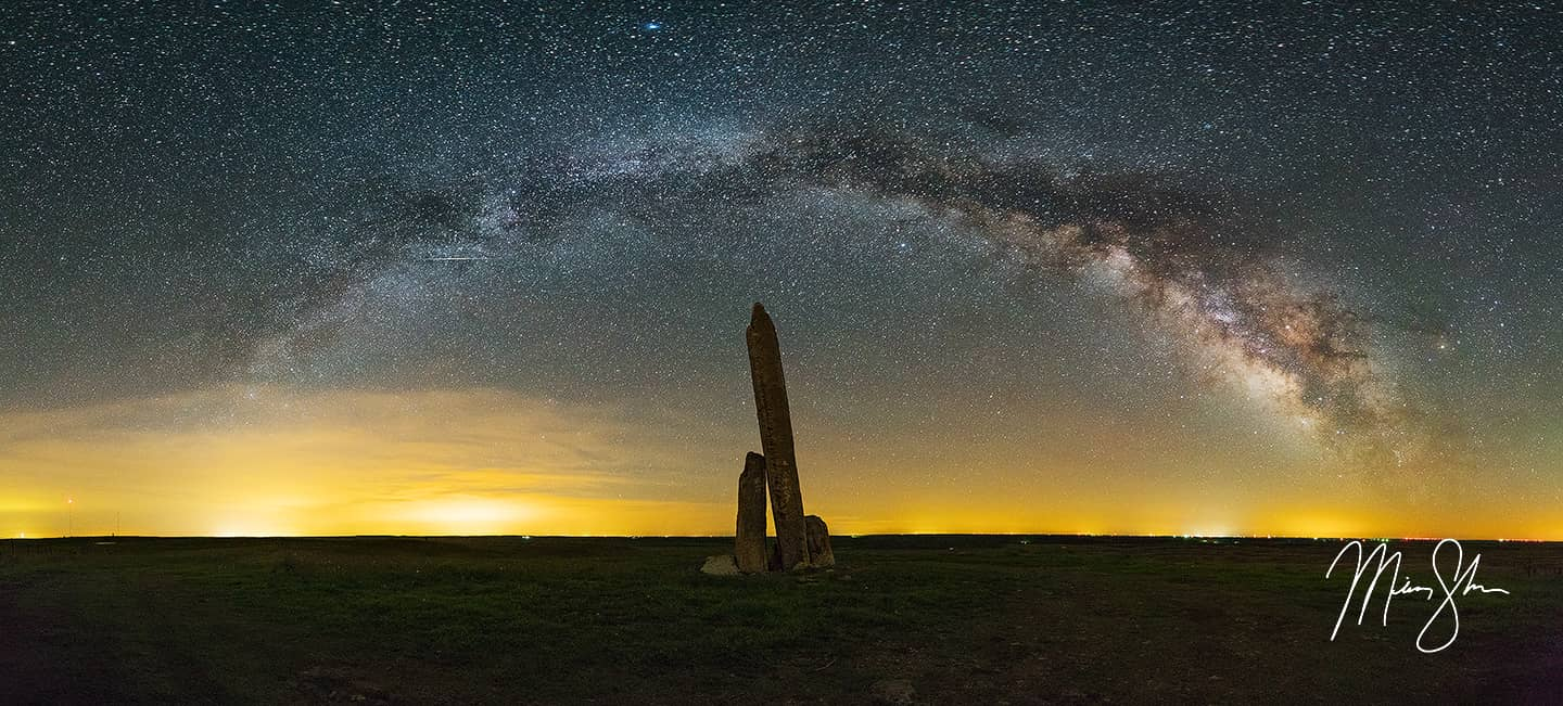 Teter Rock Milky Way Panorama - Teter Rock, Flint Hills, Kansas