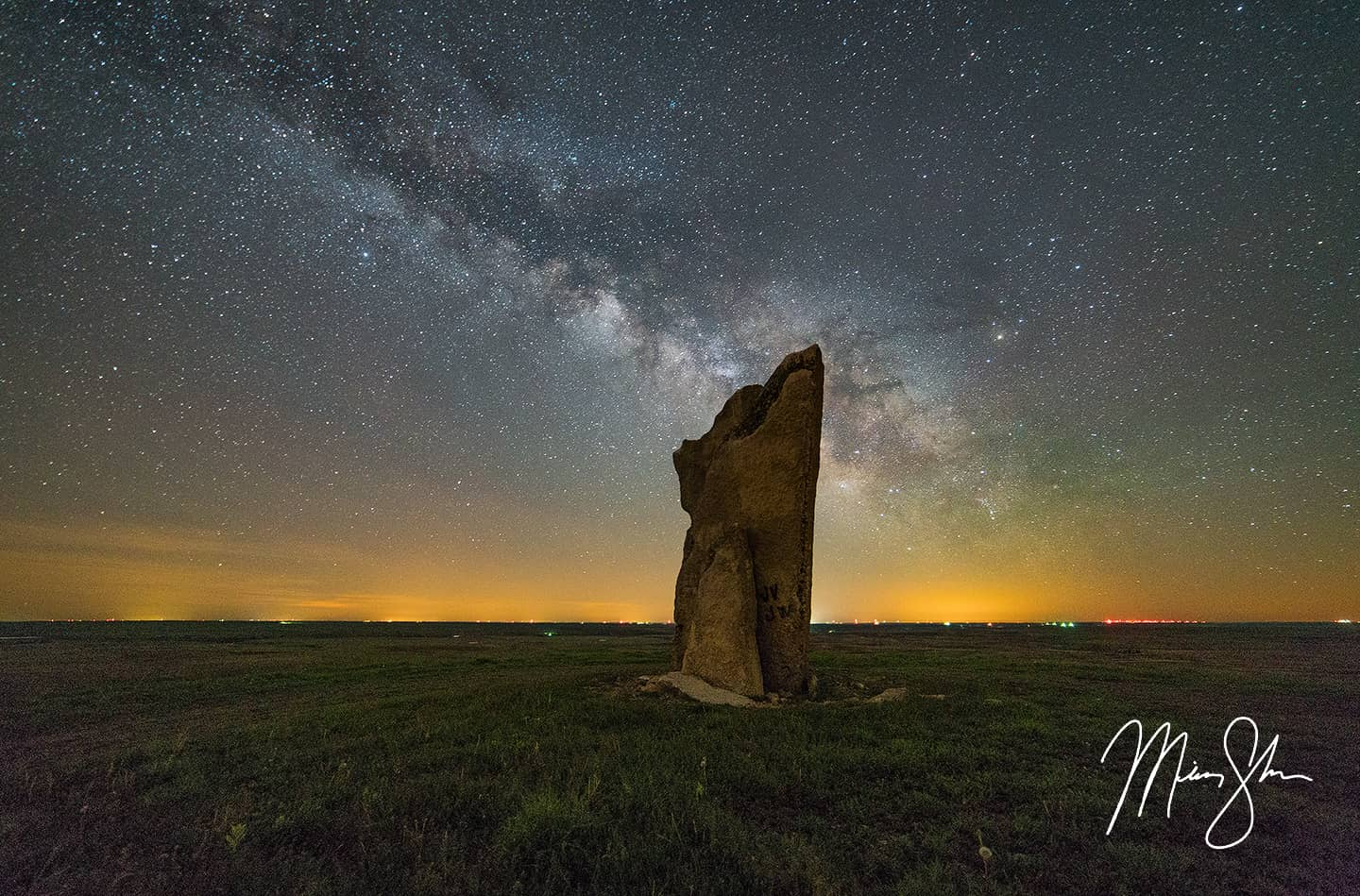 Open edition fine art print of Teter Rock Milky Way from Mickey Shannon Photography. Location: Teter Rock, Cassoday, Kansas