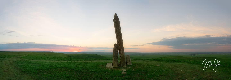 Teter Rock Sunrise Panorama