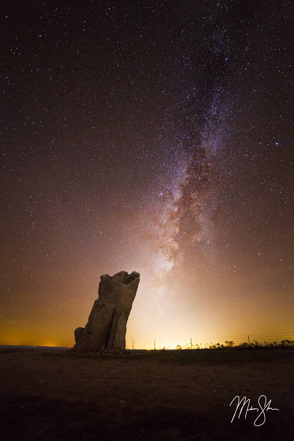 Teter Rock Winter Milky Way