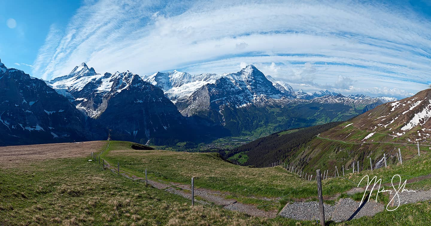 The Eiger And Grindelwald Valley - First, Grindelwald, Bernese Alps, Switzerland