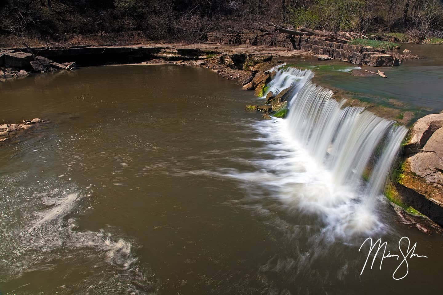 Open edition fine art print of The Flows of Elk Falls from Mickey Shannon Photography. Location: Elk Falls, Kansas