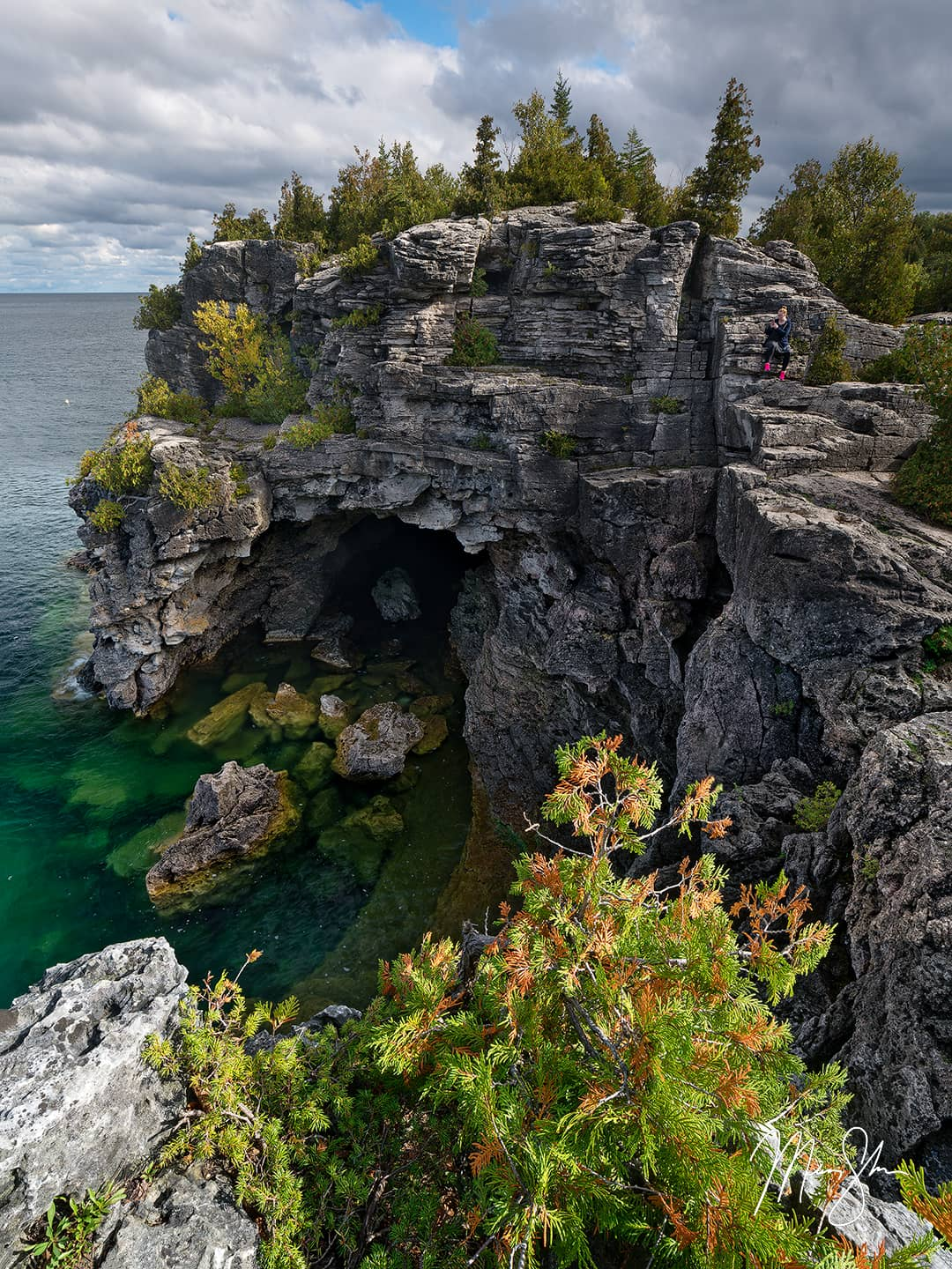 Open edition fine art print of The Grotto at Bruce Peninsula National Park from Mickey Shannon Photography. Location: Bruce Peninsula National Park, Ontario, Canada