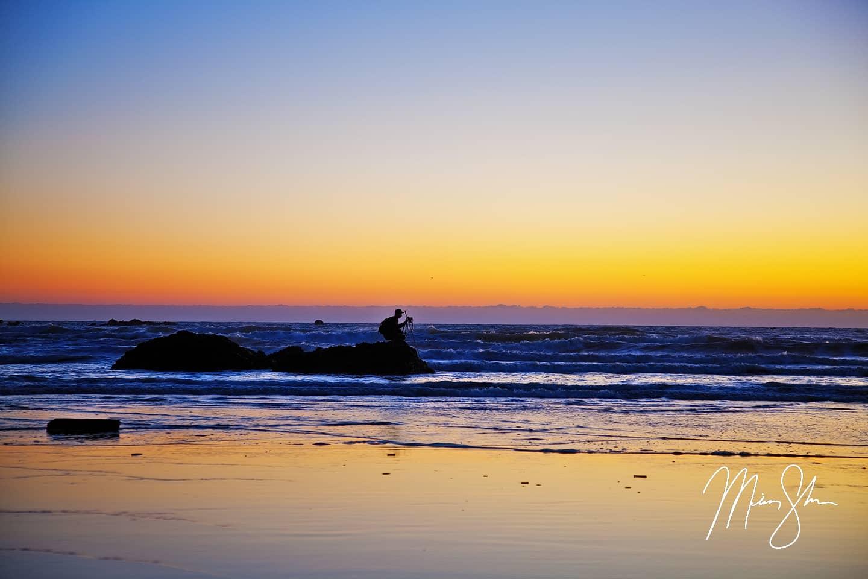 The Photographers Silhoutte - Ruby Beach, Olympic National Park, Washington, USA