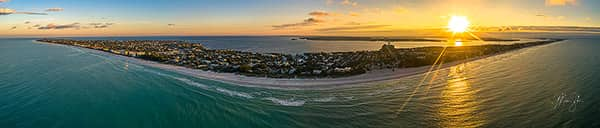 Aerial Anna Maria Island Sunrise