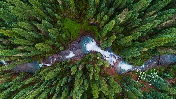 Aerial South Mineral Creek Falls