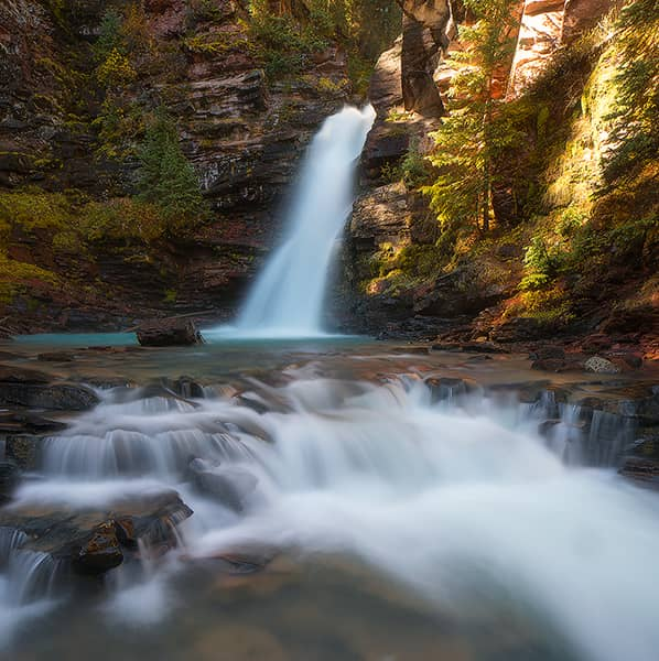 Autumn at South Fork Mineral Creek Falls