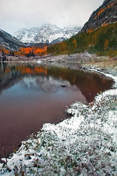 Autumn Snow at the Maroon Bells