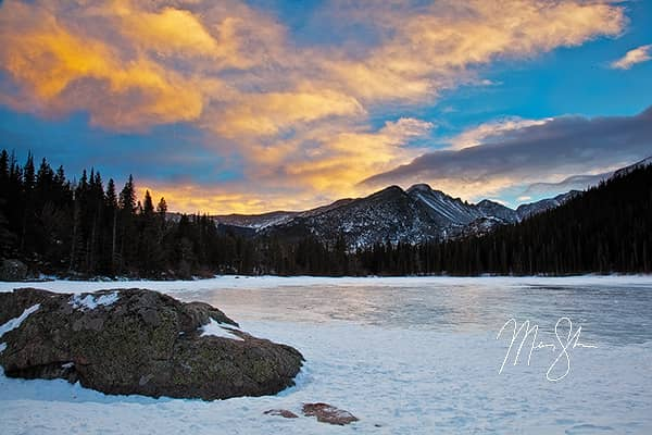 Bear Lake Winter Sunset